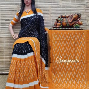 Badarika - Ikkat Cotton Saree without Blouse