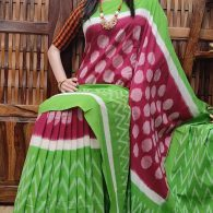 Bahulya - Ikkat Cotton Saree without Blouse