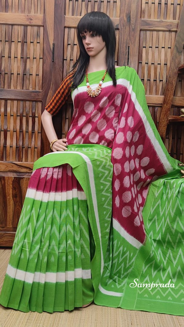 Bahulya - Ikkat Cotton Saree without Blouse