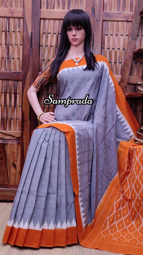 Baruna - Ikkat Cotton Saree without Blouse