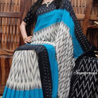 Bhaamini - Ikkat Cotton Saree without Blouse