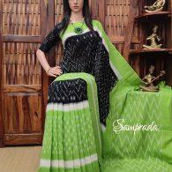 Bhaavana - Ikkat Cotton Saree without Blouse