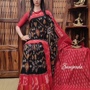 Bhadrika - Ikkat Cotton Saree without Blouse