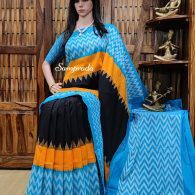 Bhageerathi - Ikkat Cotton Saree without Blouse