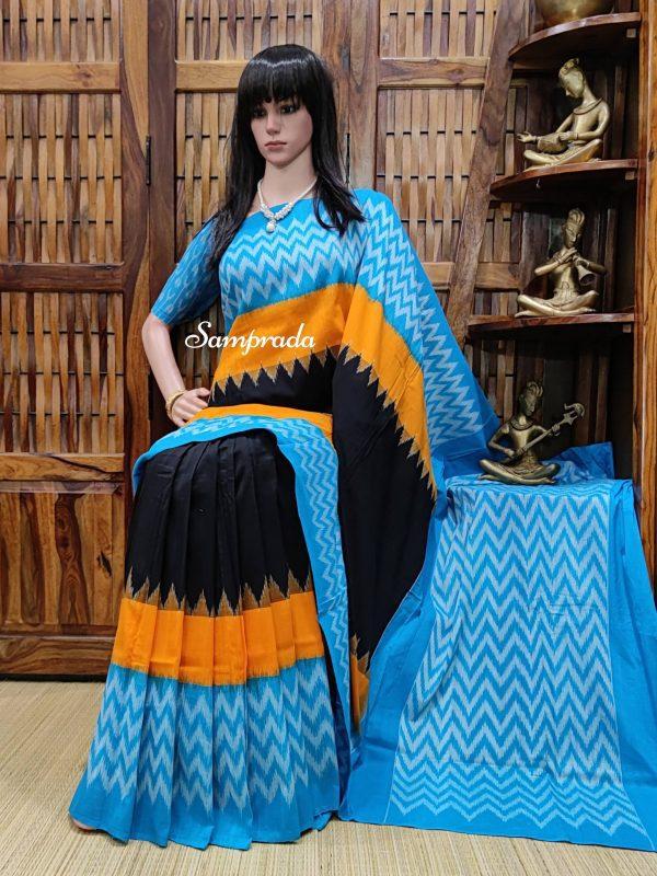 Bhageerathi - Ikkat Cotton Saree without Blouse