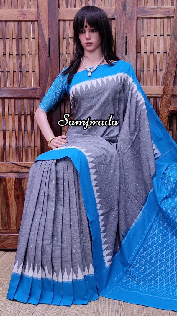 Bhagirathi - Ikkat Cotton Saree without Blouse