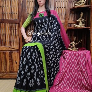 Bhakthi - Ikkat Cotton Saree without Blouse