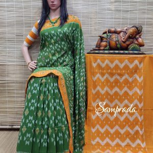 Bhanumathi - Ikkat Cotton Saree without Blouse
