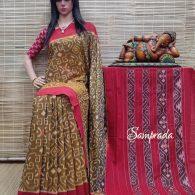 Bhanupriya - Ikkat Cotton Saree without Blouse