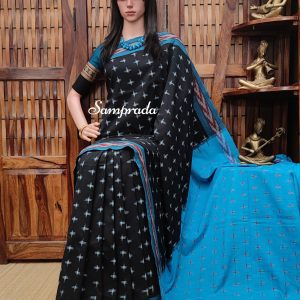 Bharvi - Ikkat Cotton Saree without Blouse