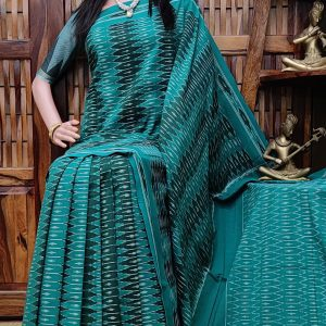 Bhavaa - Ikkat Cotton Saree without Blouse