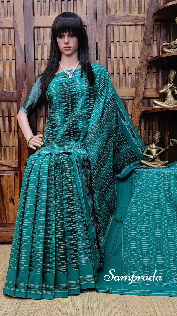 Bhavaa - Ikkat Cotton Saree without Blouse