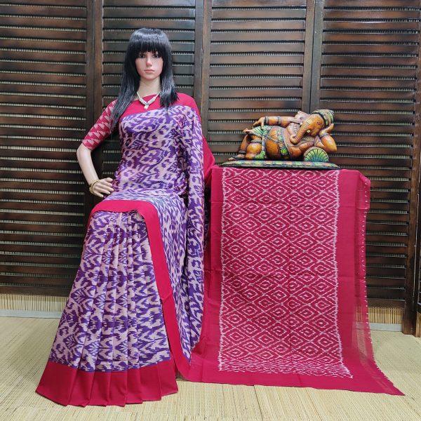 Bhavathi - Ikkat Cotton Saree without Blouse