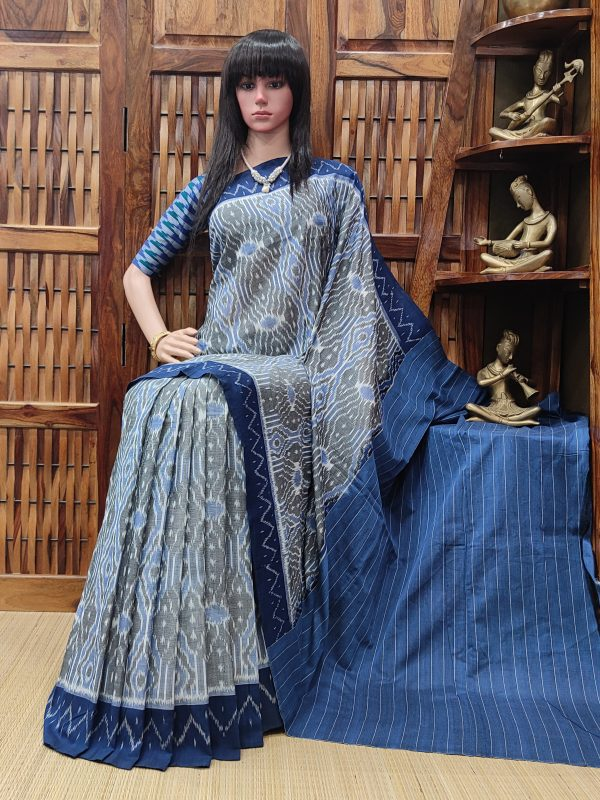 Bhavika - Ikkat Cotton Saree without Blouse