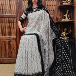 Bhilangana - Ikkat Cotton Saree without Blouse