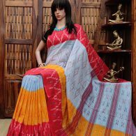Bihaara - Ikkat Cotton Saree without Blouse