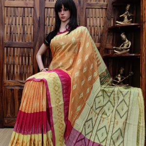 Bindhumalini - Ikkat Cotton Saree without Blouse