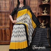 Bruhani - Ikkat Cotton Saree without Blouse