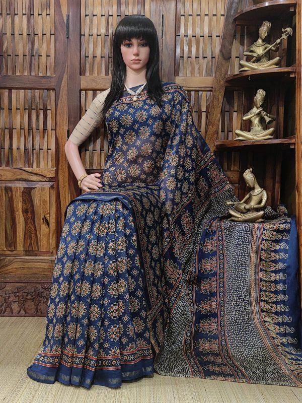 Chaaruvi - Chanderi Sico Saree