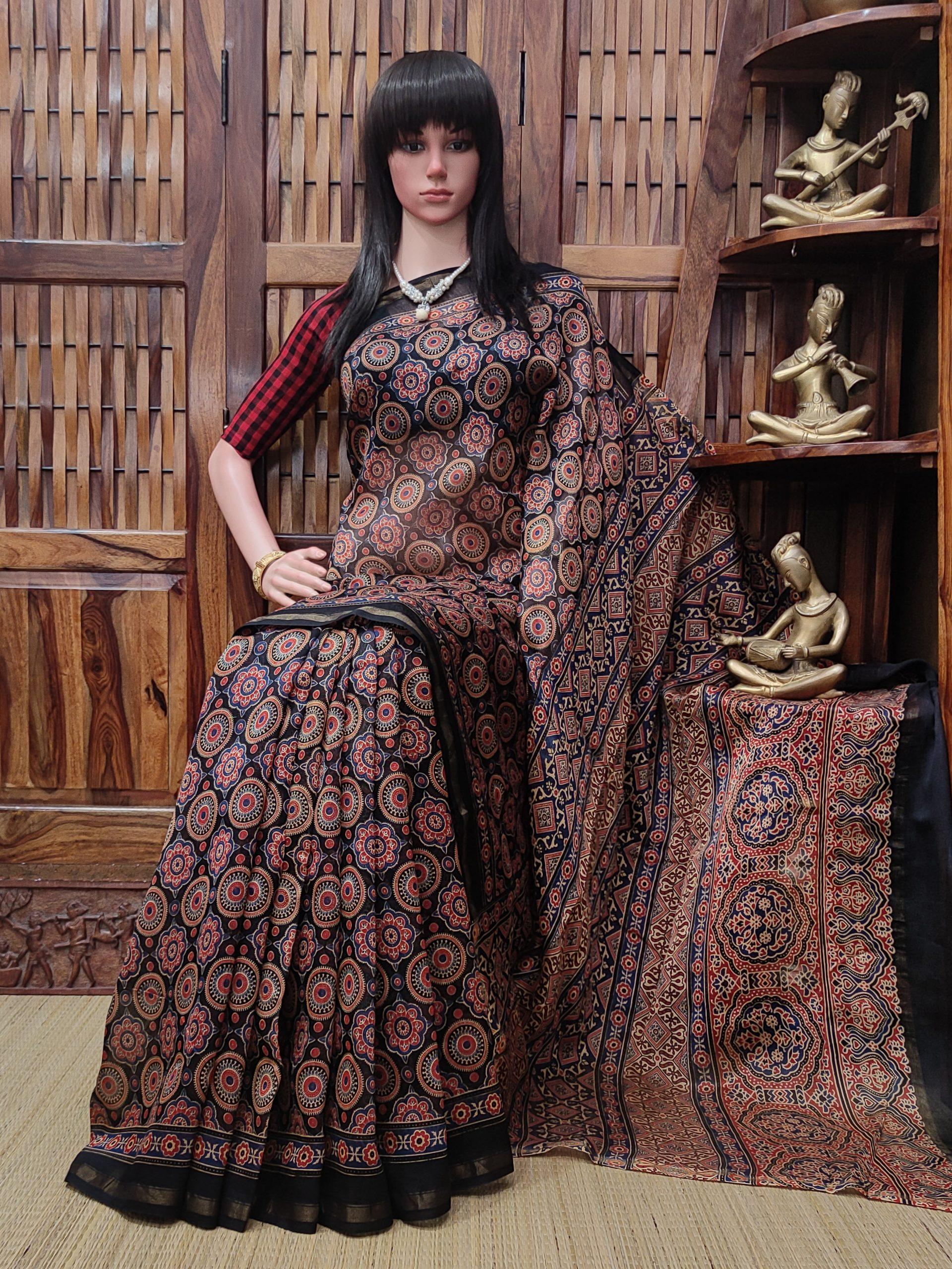 Chaithra - Chanderi Sico Saree