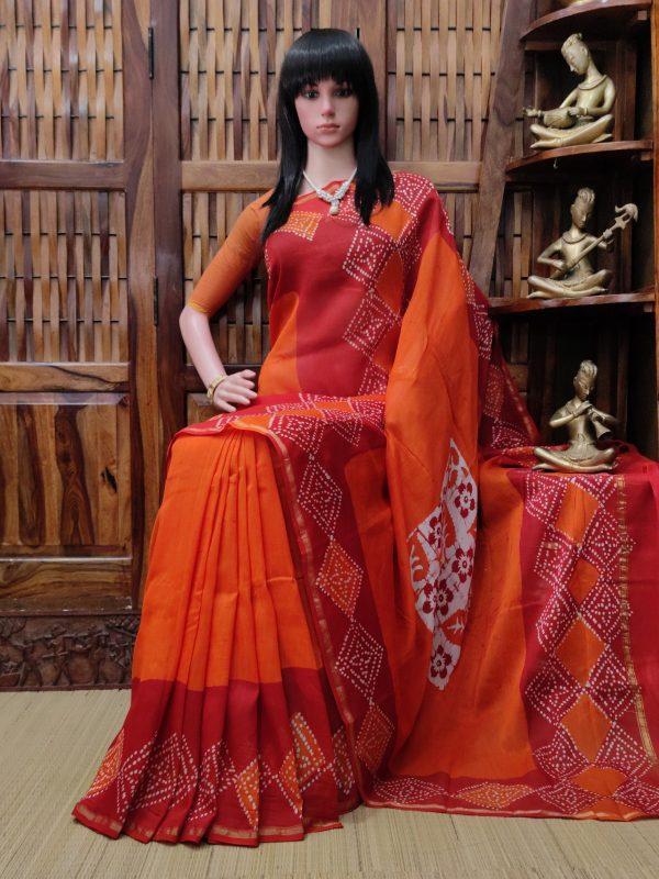 Charukeshi - Chanderi Sico Saree