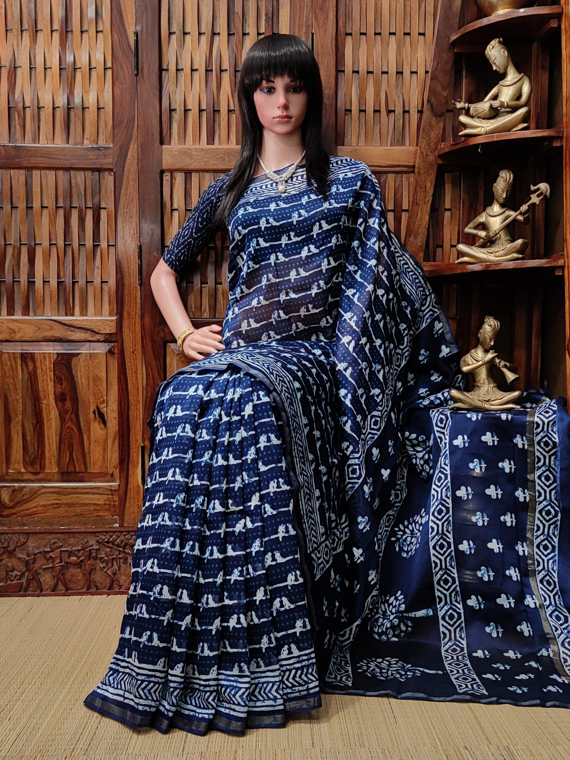 Charulatha - Chanderi Sico Saree