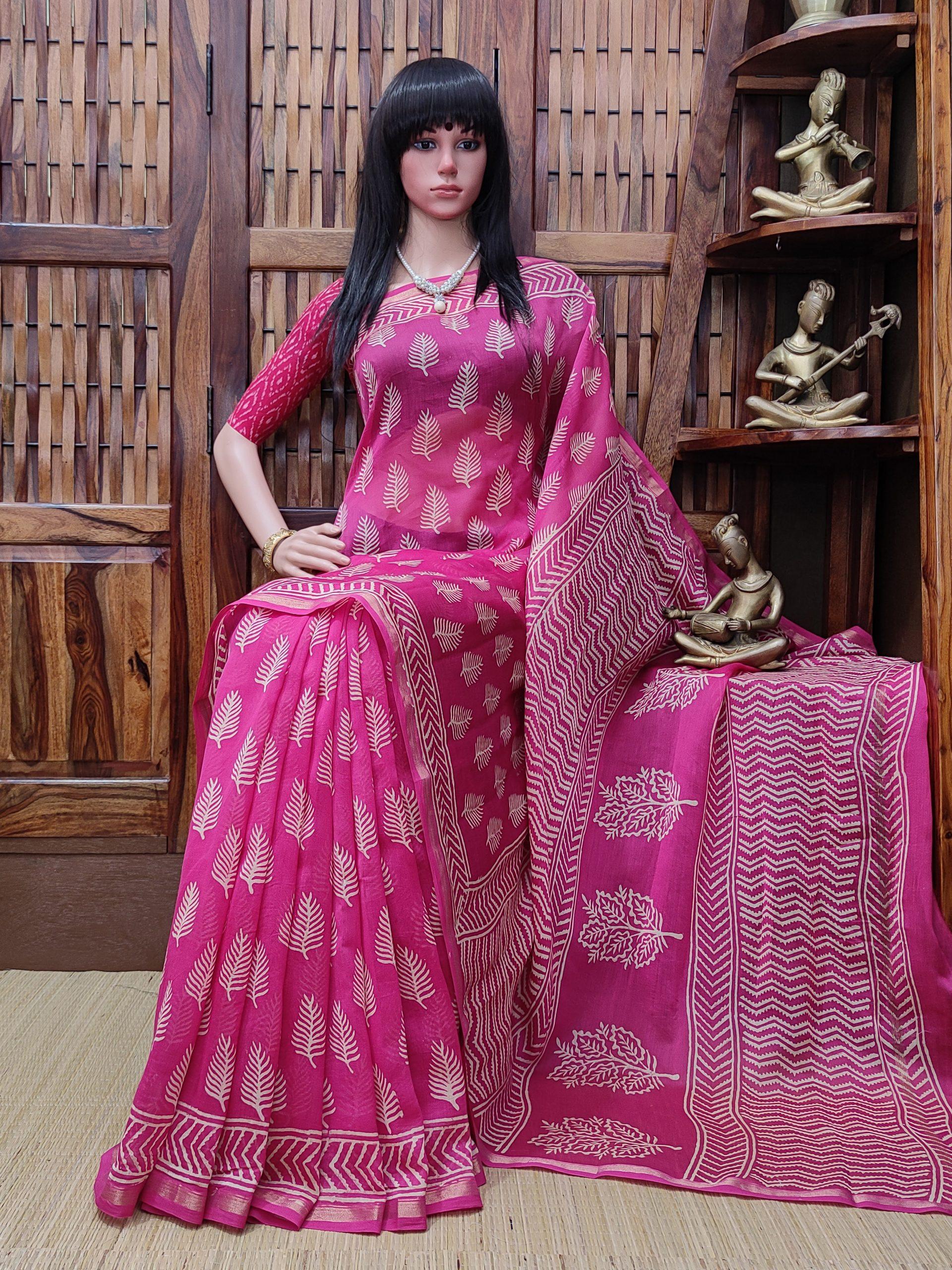 Charuvardhani - Chanderi Sico Saree