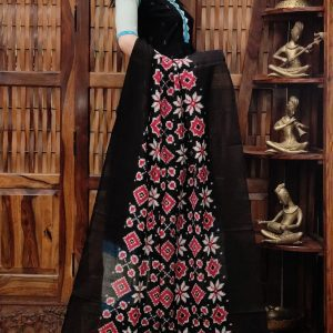 Dakshaja - Double Ikkat Cotton Dupatta