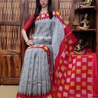 Drishya - Double Ikkat Cotton Saree