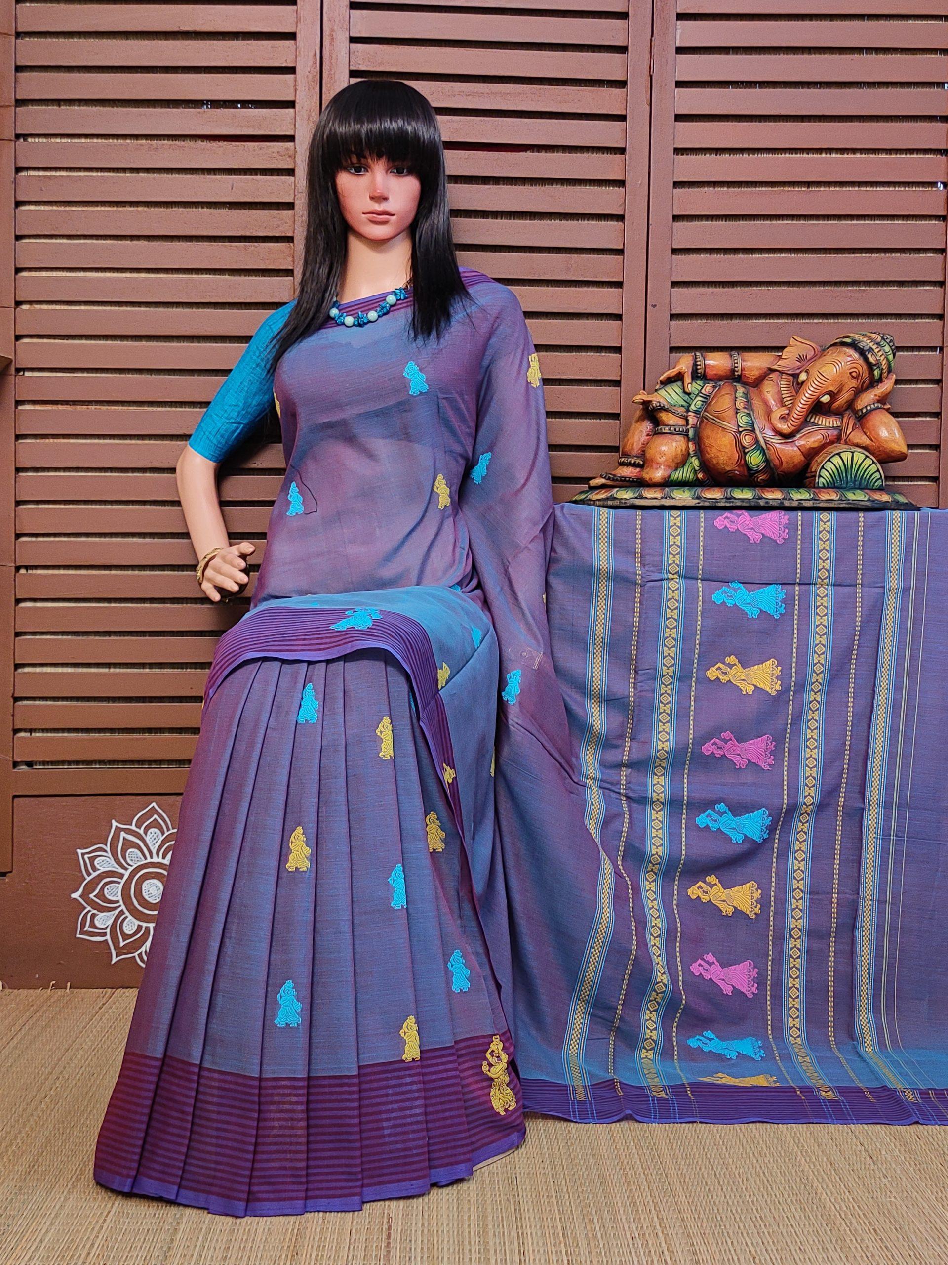 Bodhani - Gollabama Buta Cotton Saree