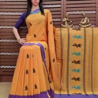 Buddhana - Gollabama Buta Cotton Saree