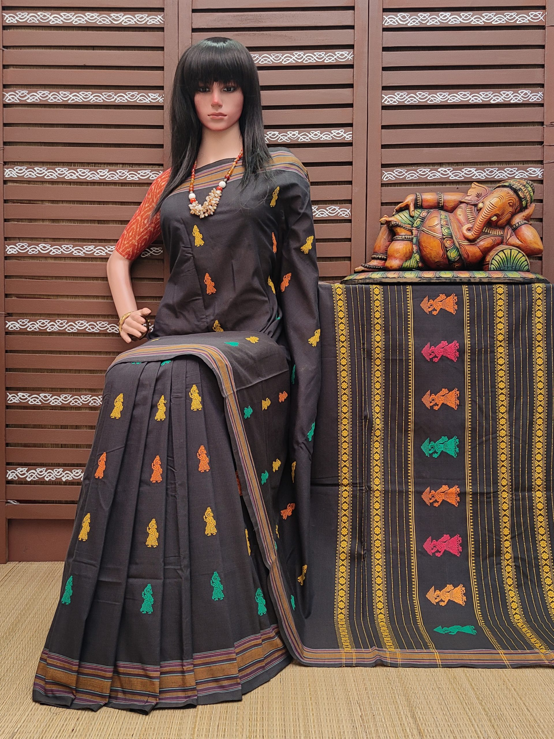 Chithragandha - Gollabama Cotton Saree