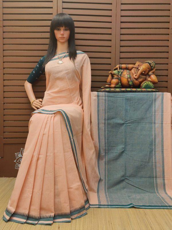 Haimantika - Handspun Jute Cotton Saree