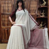 Harshini - Handspun Jute Cotton Saree