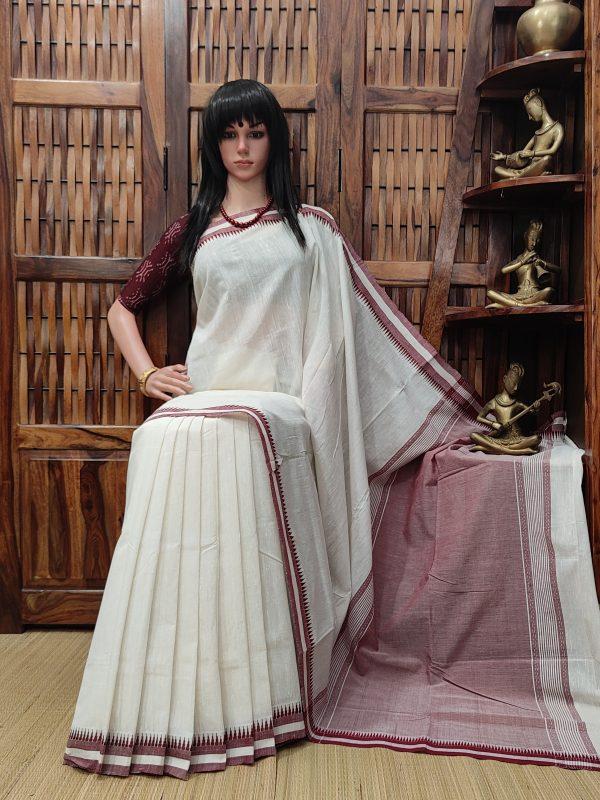 Harshini - Handspun Jute Cotton Saree