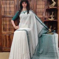 Heerkani - Handspun Jute Cotton Saree