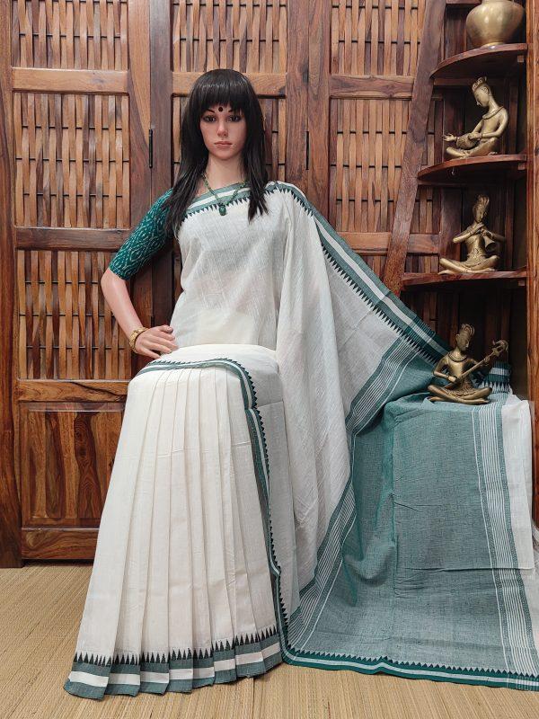 Heerkani - Handspun Jute Cotton Saree