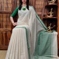 Hemalatha - Handspun Jute Cotton Saree