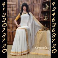 Hemangini - Handspun Jute Cotton Saree