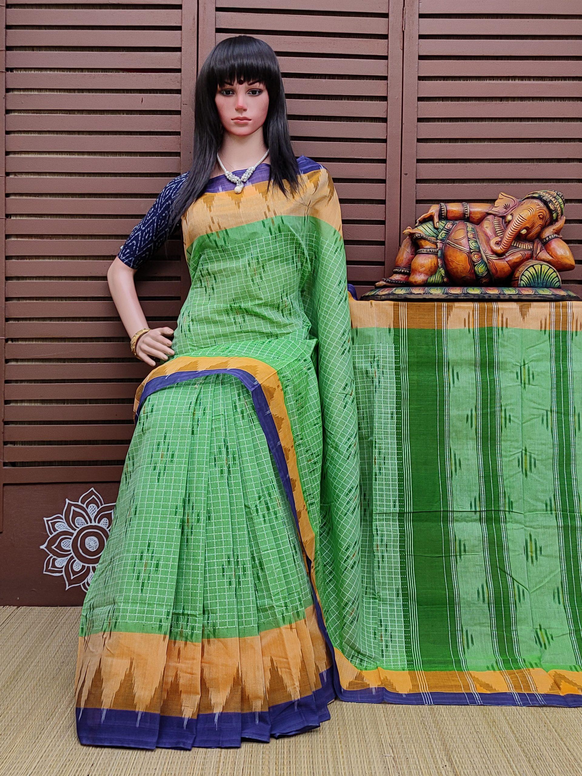 Kanita - Ikkat Mutyam Gadi Cotton Saree