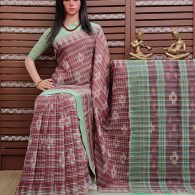 Kanjira - Ikkat Mutyam Gadi Cotton Saree