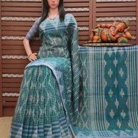 Kartyayani - Ikkat Mutyam Gadi Cotton Saree