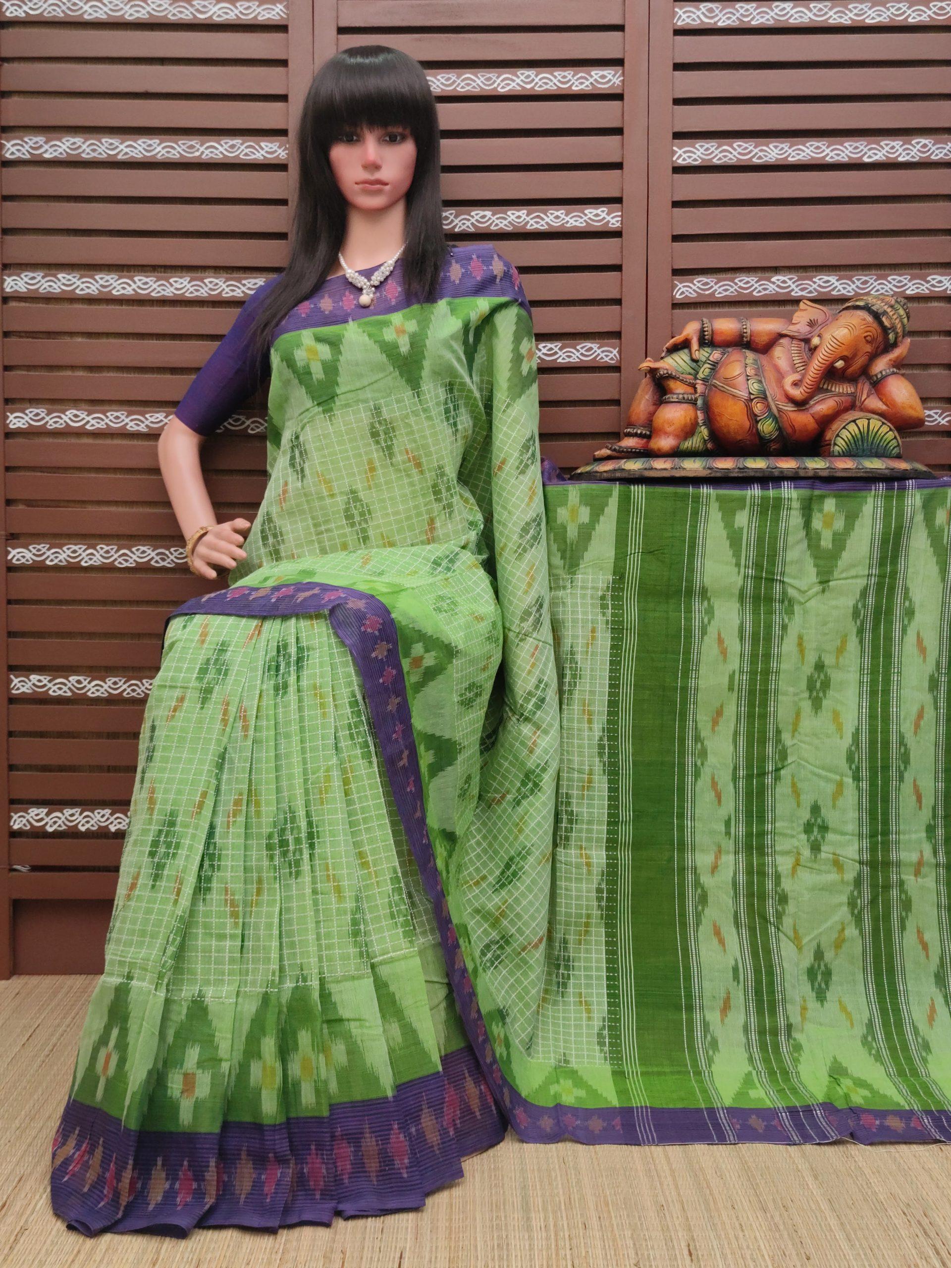 karunah - Ikkat Mutyam Gadi Cotton Saree