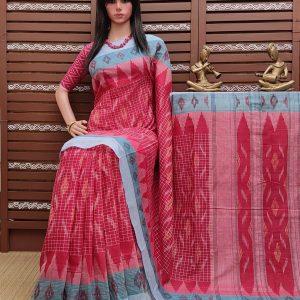 Kashyapi - Ikkat Mutyam Gadi Cotton Saree