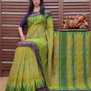 Kasturi - Ikkat Mutyam Gadi Cotton Saree
