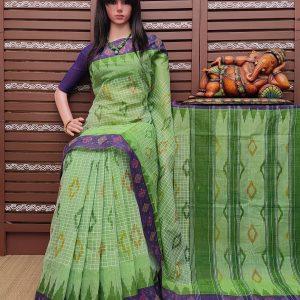 Kataksha - Ikkat Mutyam Gadi Cotton Saree