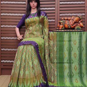Kaumudi - Ikkat Mutyam Gadi Cotton Saree