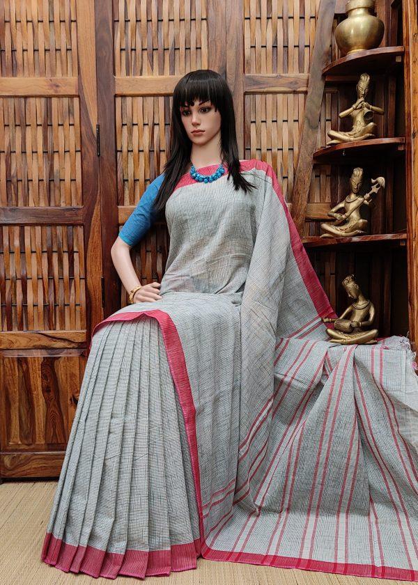 Hrudkamali - Jamdani Cotton Saree