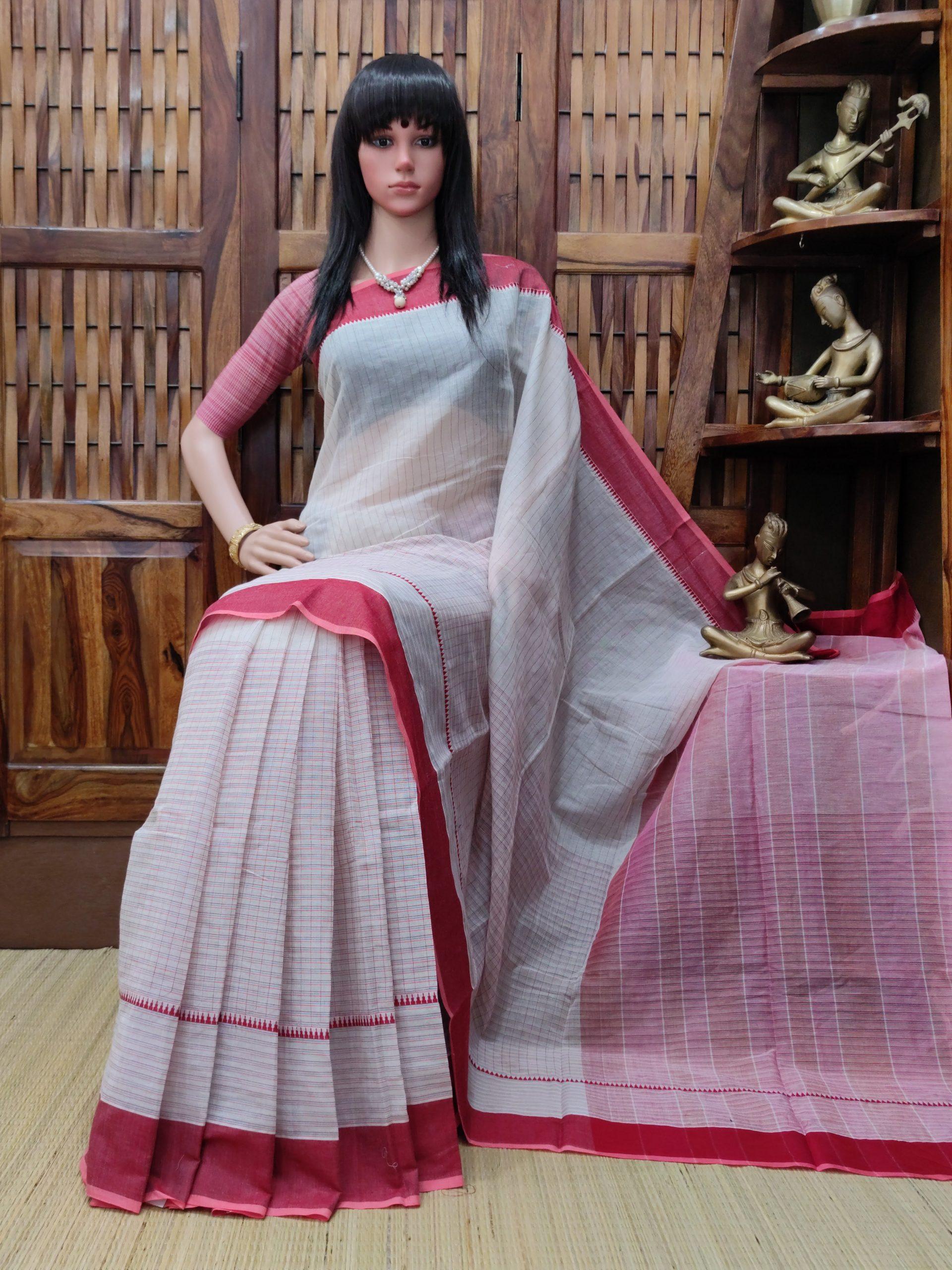 Iipsitha - Jamdani Cotton Saree
