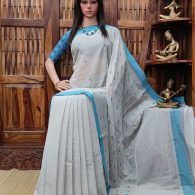 Indrakshi - Jamdani Cotton Saree
